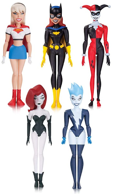 "The New Batman Adventures ""Girls' Night Out"" Action Figure Box Set - Batgirl, Harley Quinn, Live Wire, Poison Ivy & Supergirl"
