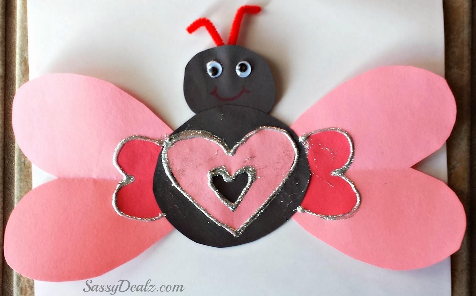 Valentines Day Heart Butterfly Craft For Kids