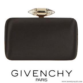 Meghan Markle carried Givenchy Black Satin Clutch