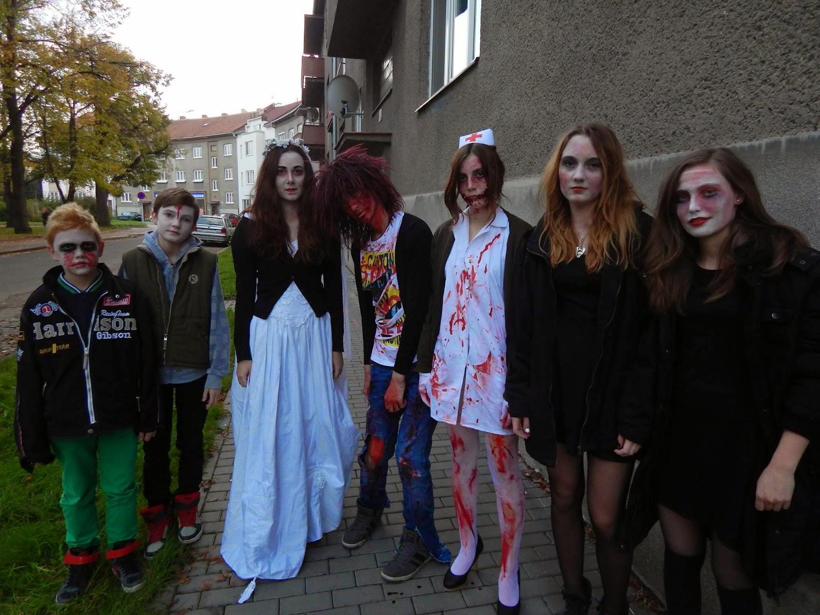 Zombie walk halloween