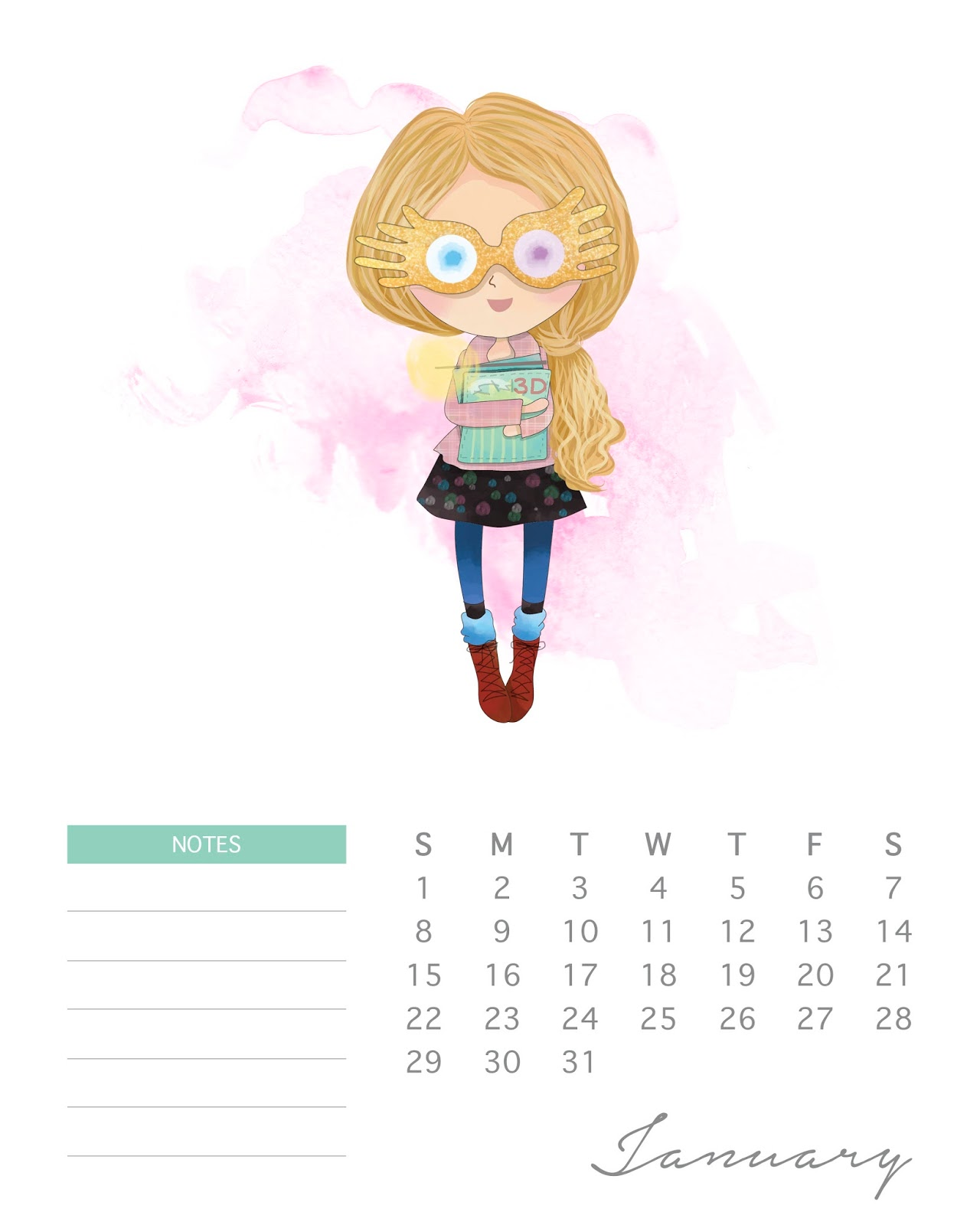 Calendario 2017 De Harry Potter Para Imprimir Gratis Oh My