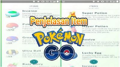 Penjelasan Lengkap Item di Pokemon Go
