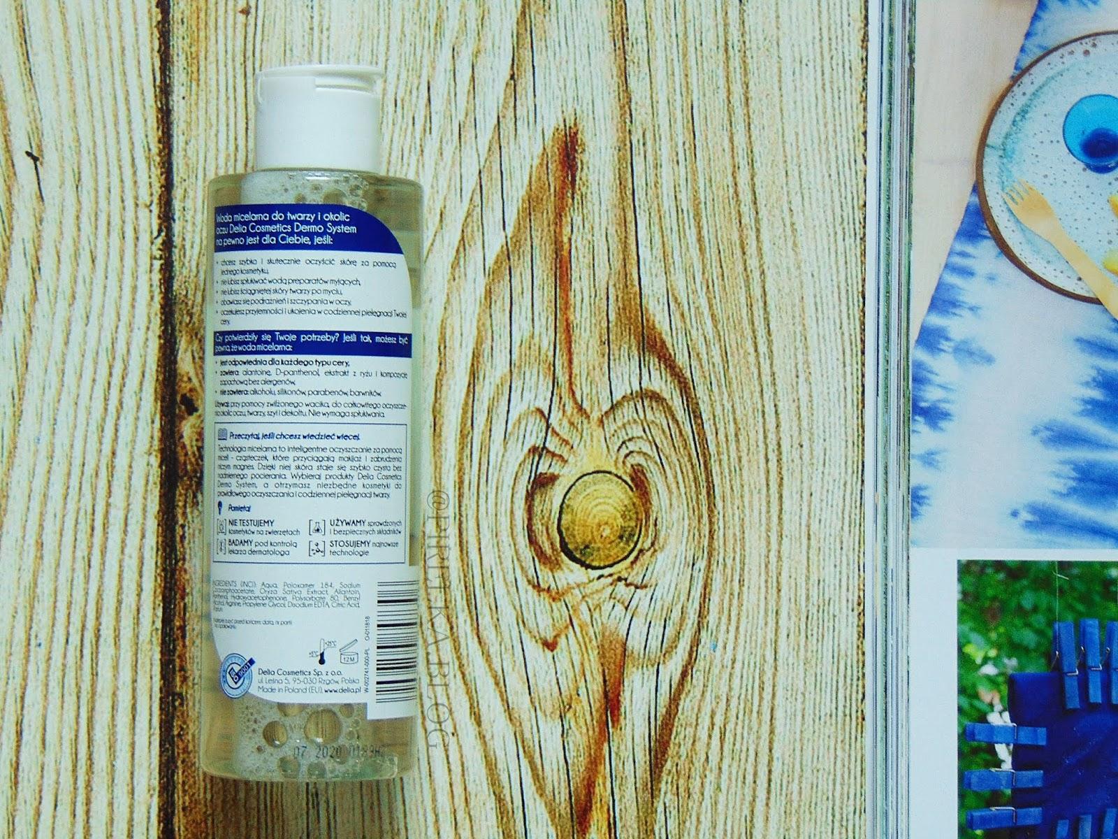 Delia, DERMO SYSTEM - Woda micelarna do twarzy i okolic oczu