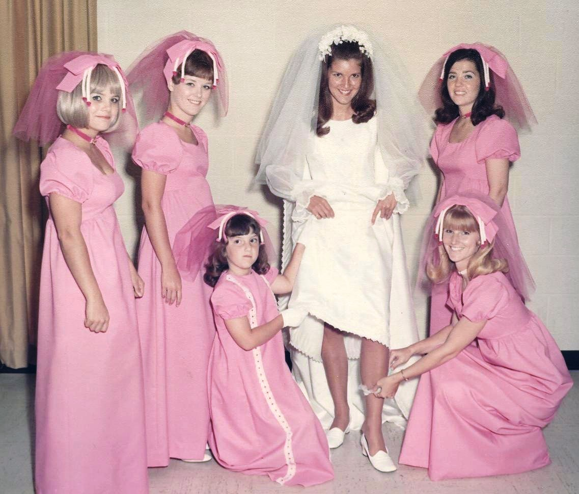 Old Ugly Wedding Dresses: Vintage Brides: Charming Color Snapshots Of Women In White