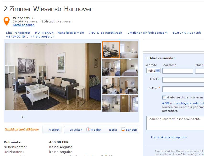 Evabltan58 2 zimmer for Zimmer hannover