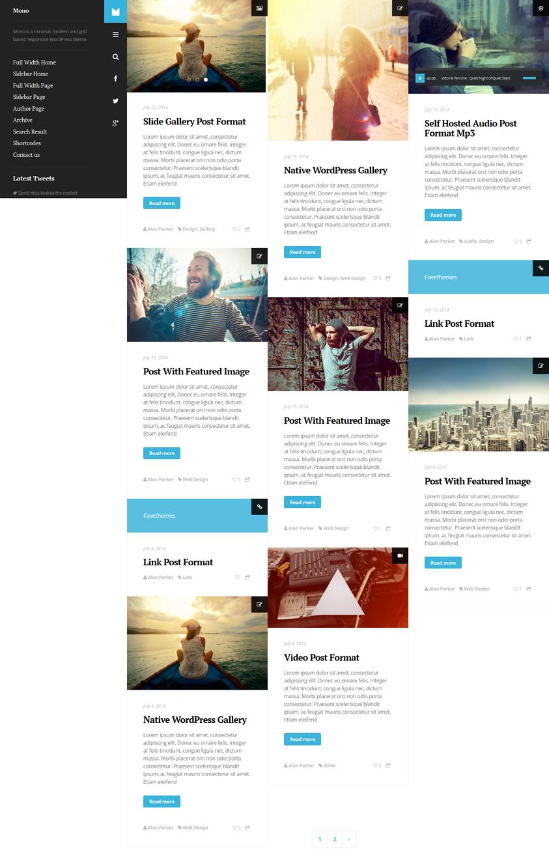 wp blog theme