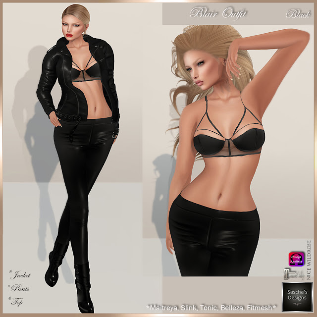 SASCHA'S DESIGNS - Blair Outfits (Mesh Bodies & Fitmesh)