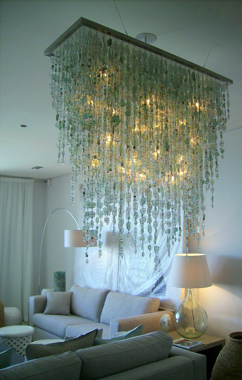 south chandeliers glass recycled hanging in mustard chandelier africa