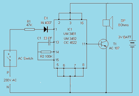 Simple Polyphonic Doorbell Circuit Diagram Super Circuit Diagram Data Library