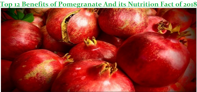 Top 12 Benefits of Pomegranate And its Nutrition Fact
