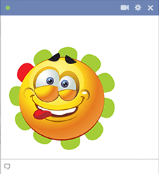 Goofy face - Facebook sticker
