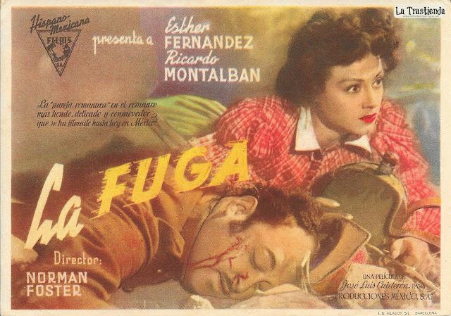 La Fuga - Programa de Cine (Horizontal) - Ricardo Montalbán - Esther Fernandez
