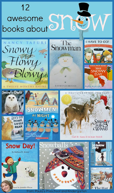 12 Awesome books about snow from Paula's Preschool and Kindergarten