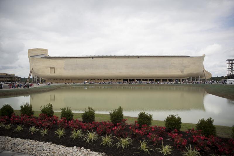 The replica Noah's Ark is a US$102 million theme park