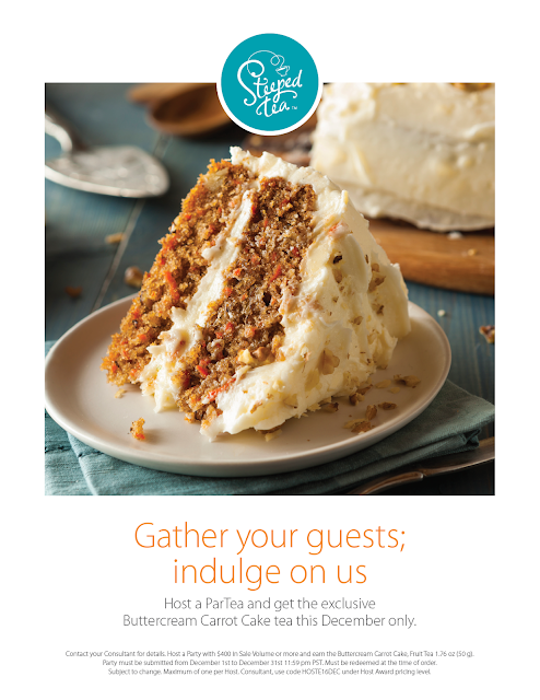 December Host incentive: get the exclusive Buttercream Carrot Cake tea when you host a ParTea
