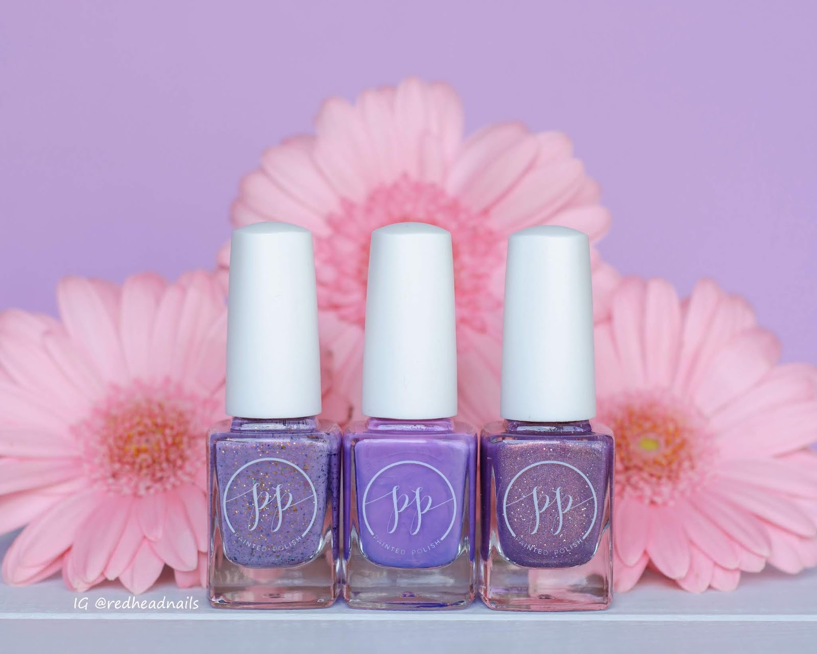 Painted Polish Purple B-Day Trio swatche