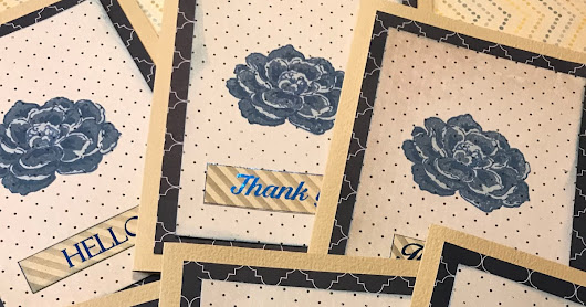 Layering Stamps Note Card Set