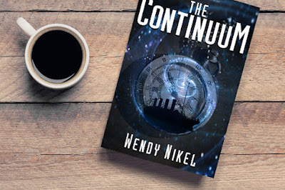 #book and #coffee image Welcome Wendy Nikel in this Cover Reveal Spotlight of The Continuum