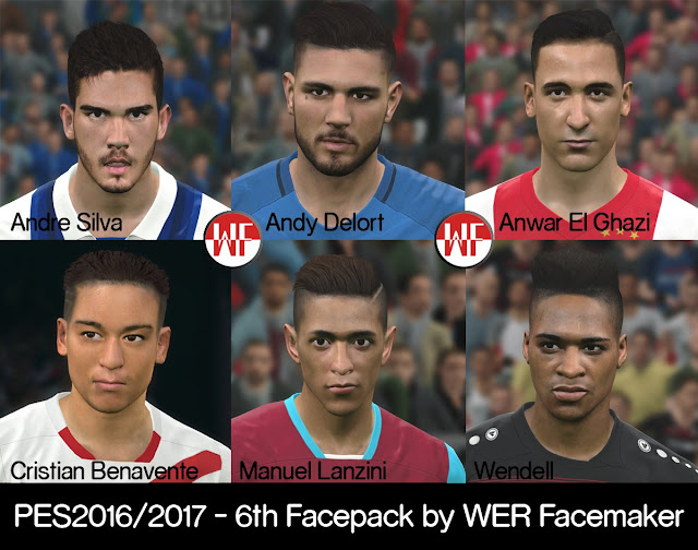 PES 2016 / PES 2017 6th FacePack by WER Facemaker
