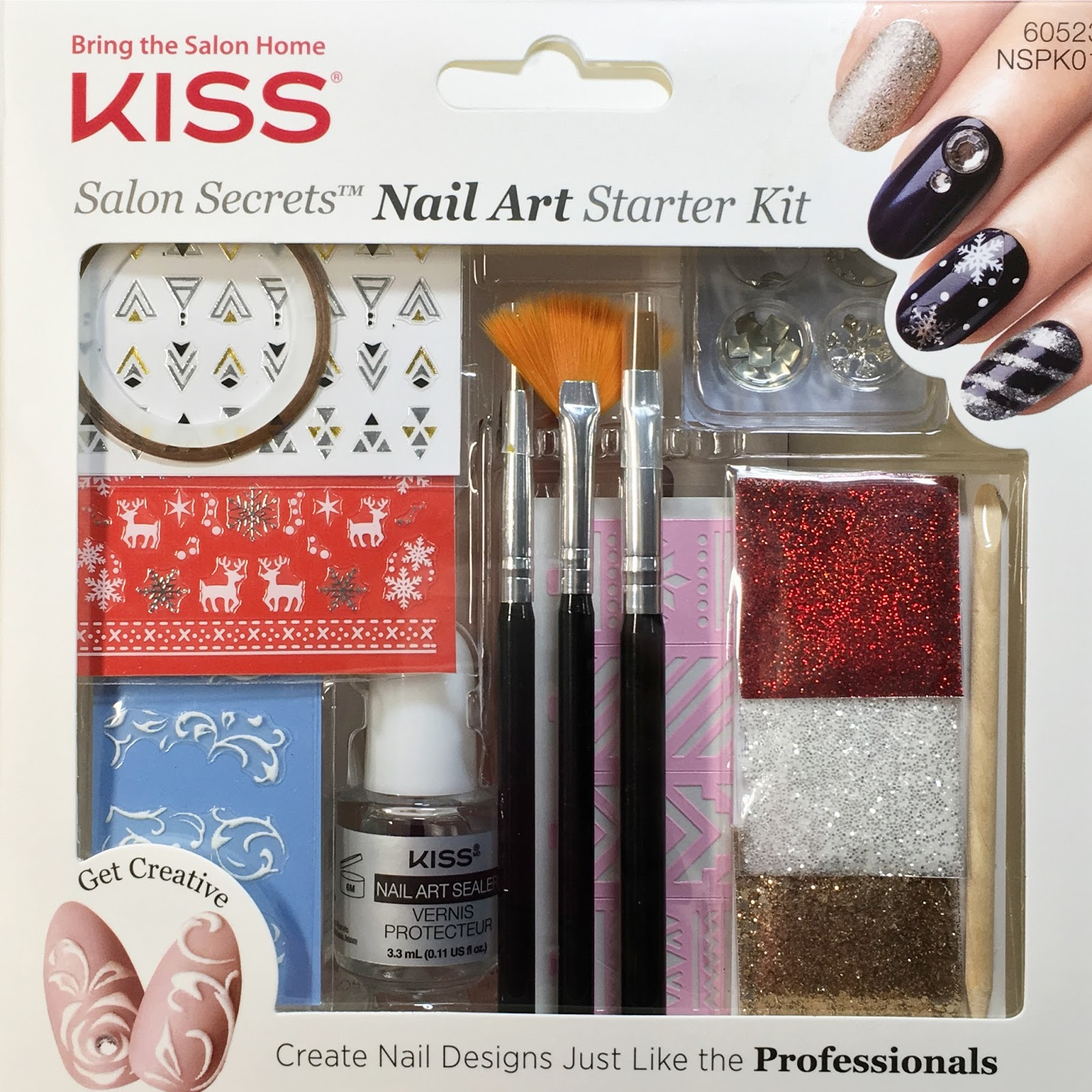 Kiss Salon Secrets Nail Art Pro Tool Kit Nsat01: Kiss Salon Secrets Nail Art Starter Kit