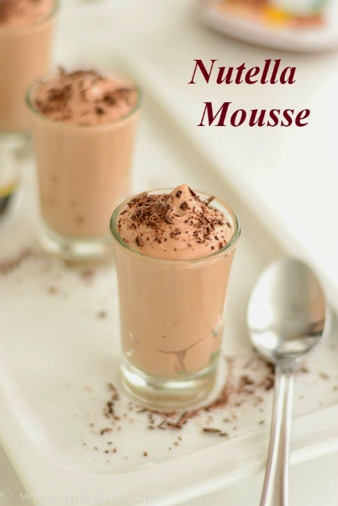 2 Ingredient Nutella Mousse