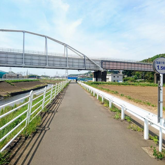 境川自転車道 水管橋