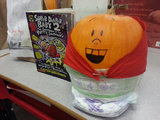 Pumpkin Book Reports- Super Diaper Baby