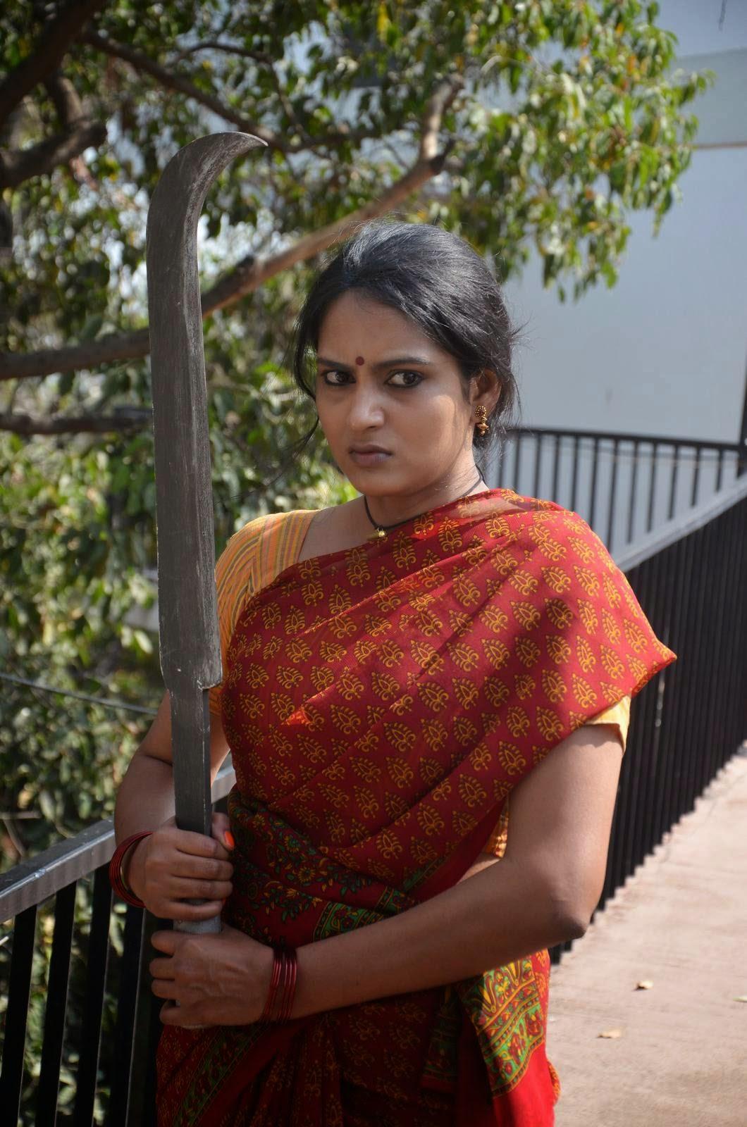 Himaja-Veta Kodavallu First Look Posters, Telegu Actress Himaja Hot Pics In sare from Veta Kodavallu Movie