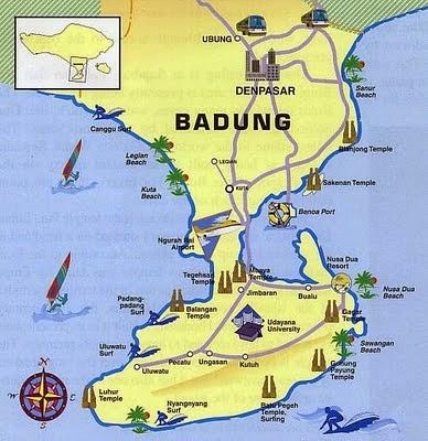 Peta Kabupaten Badung