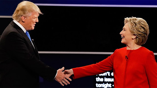 Política. Trump contra Clinton. Primer