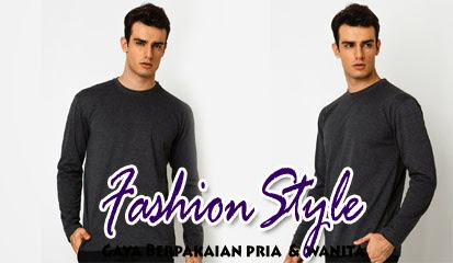 Model Baju Kaos Pria Lengan Panjang T-shirt Round Neck LS Basic by Atypical Basic