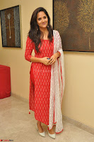 Anasuya Bharadwaj in Red at Kalamandir Foundation 7th anniversary Celebrations ~  Actress Galleries 046.JPG