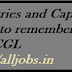 Countries and Capitals tricks to reember -  SSC CGL :
