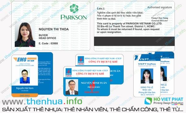 Làm thẻ nhựa lưu thông tin vào giải từ chất lượng