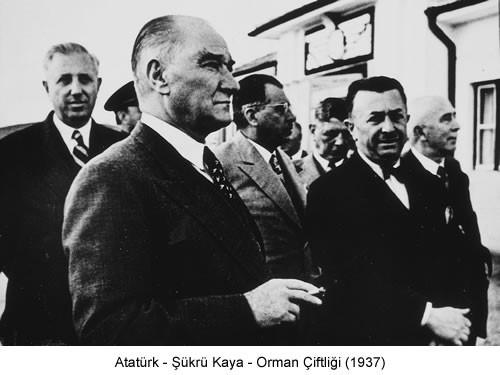 Atatürk Şükrü Kaya 1937 Fotoğraf