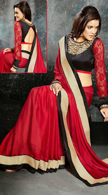Indian-designer-embroidered-blouse-designs-for-plain-saree-14