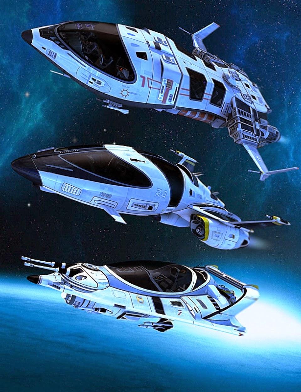 Poser and DAZ Studio 3D Models: Spaceship|DAZ Studio and Poser Content