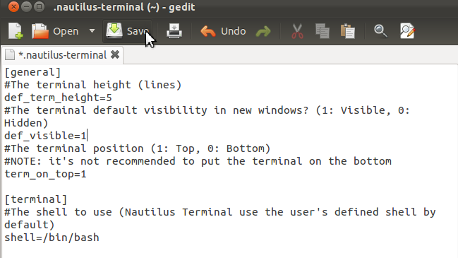 Embed the Ubuntu Terminal in the Nautilus File Browser - Ubuntu