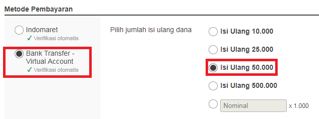 Cara Top Up / Isi Ulang Saldo Dompetku di Itemku.com
