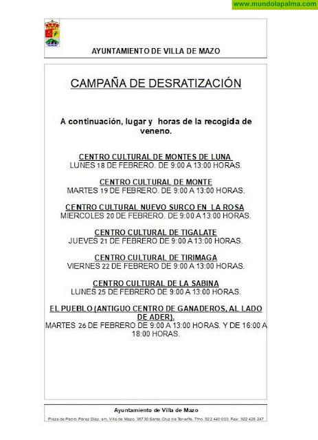 Campaña de desratización en Villa de Mazo
