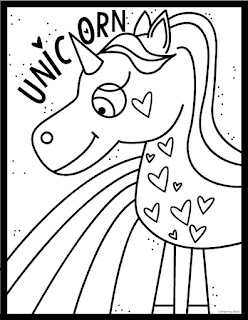 Unicorn a rainbow coloring page from the pond for Rainbow unicorn coloring pages