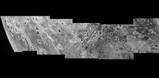 The New Horizons spacecraft spied extensional faults on Pluto, a sign that the dwarf planet has undergone a global expansion possibly due to the slow freezing of a subsurface ocean. A new analysis by Brown University scientists bolsters that idea, and suggests that ocean is likely still there today. Credit: NASA/JHUAPL/SwRI