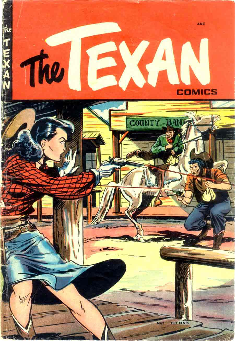 Matt Baker golden age 1950s st. john western comic book cover art - Texan #4