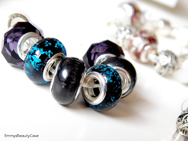 Glass Bead Charm Necklace