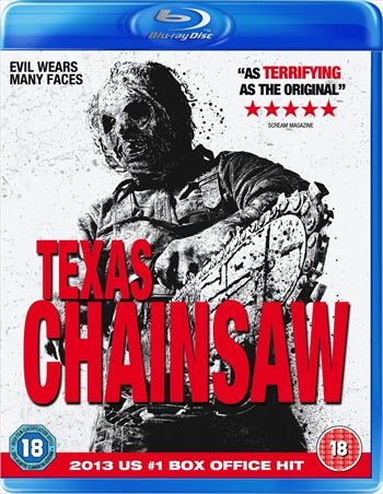 Poster of Texas Chainsaw 2013 BRRip 480p 300MB Dual Audio Watch Online free Download Worldfree4u
