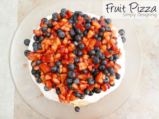 Fresh Fruit Pizza #recipe #fruit #dessert