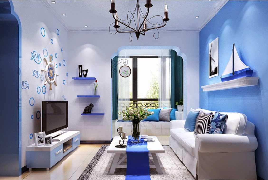 50 Contoh Desain Interior Rumah Bernuansa Biru Untuk Rumah