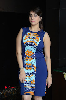 Actress Anchor Manjusha Pictures in Blue Short Dress at Jaguar Movie Success Meet .COM 0014.jpg