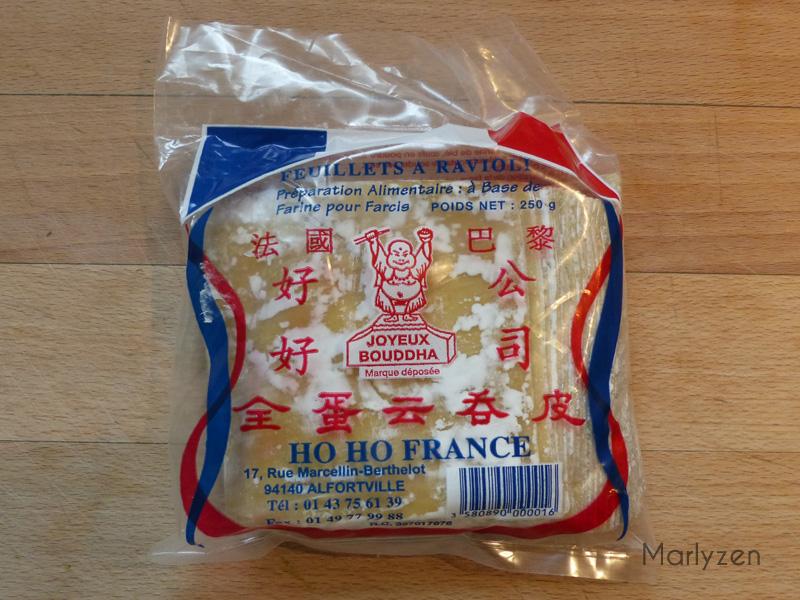 Feuilles fraîches pour ravioli (wonton).