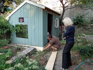 Shabby Glam New England Shed Makover Repairing Wood Rot
